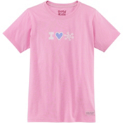 Life Is Good Crusher I Heart Snow Girls T-Shirt, , medium