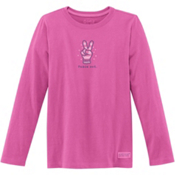 Life Is Good Crusher Long Sleeve Peace Out Glove Girls Shirt, , medium
