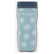 Life Is Good Acrylic Snowflake Travel Mug, , medium