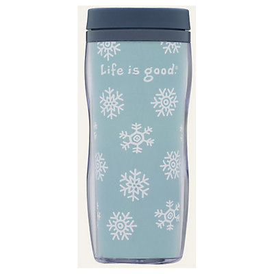 Life Is Good Acrylic Snowflake Travel Mug, , large