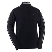 KJUS 1972 Half Zip Mens Sweater, Black, medium