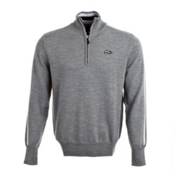 KJUS 1972 Half Zip Mens Mid Layer, Grey Melange, medium