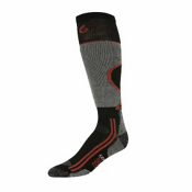 Point6 Light Ski Socks, Black-Silver, medium