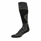 Point6 Medium Ski Socks, Gray-Black, medium