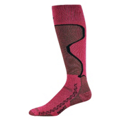 Point6 Medium Womens Ski Socks, Fuchsia, medium
