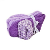 TERRAMAR Fuzzy Womens Socks, Purple, medium