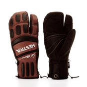 Hestra Seth Morrison 3-Finger Pro Gloves, Brown-Black, medium
