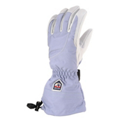 Hestra Heli Womens Gloves, Ice Blue-Off White, medium
