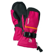Hestra Czone Gauntlet Girls Mittens, Fushia-Orange, medium