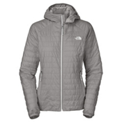 The North Face Blaze Hooded Womens Jacket, Metallic Silver, medium