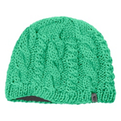 The North Face Cable Fish Beanie Womens Hat, Lizzie Green, medium