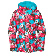 The North Face Denay Girls Ski Jacket, Burrow Brown Floral, medium