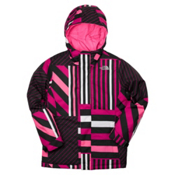 The North Face Denay Girls Ski Jacket, Razzle Pink Stripe, medium