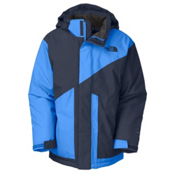 The North Face Brightten Triclimate Boys Ski Jacket, Deep Water Blue-Jake Blue, medium