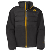 The North Face Denali Down Boys Jacket, R Graphite Grey-Leopard Yellow, medium