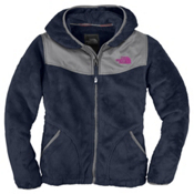 The North Face Oso Hoodie Girls Jacket, Deep Water Blue, medium