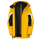 The North Face Nimbostratus Triclimate Boys Ski Jacket, Leopard Yellow, medium