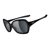 Oakley Overtime Polarized Womens Sunglasses, Polished Black, medium