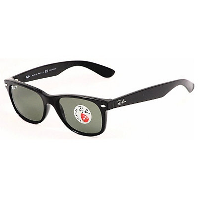 Ray-Ban New Wayfarer Polarized Sunglasses, Black, large