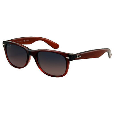 Ray-Ban New Wayfarer Polarized Sunglasses, Brown, large