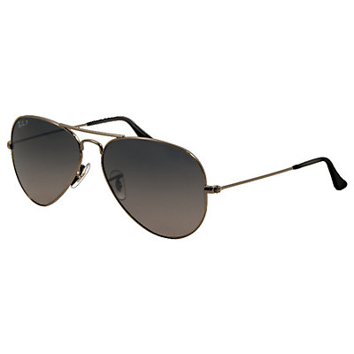 Ray-Ban Aviator Large Metal Polarized Sunglasses, Gunmetal, large