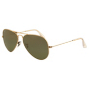 Ray-Ban Aviator Large Metal Polarized Sunglasses, Arista, medium