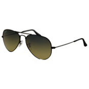 Ray-Ban Aviator Large Metal Polarized Sunglasses, Black, medium
