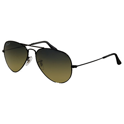 Ray-Ban Aviator Large Metal Polarized Sunglasses, Black, large