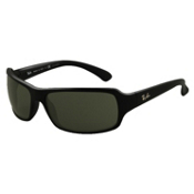 Ray-Ban Highstreet Polarized Sunglasses, Glossy Black, medium
