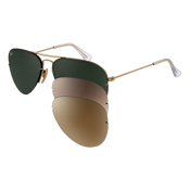 Ray-Ban Aviator Flip Out Sunglasses, Arista, medium