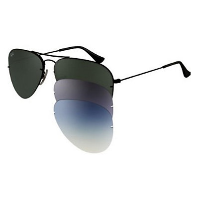 Ray-Ban Aviator Flip Out Sunglasses, Black, large