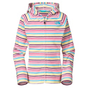 The North Face Striped Glacier Zip Kids Hoodie, TNF White Stripe, medium