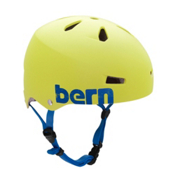 Bern Macon EPS Mens Skate Helmet, Matte Neon Yellow, medium