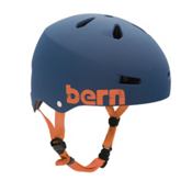 Bern Macon EPS Mens Skate Helmet, Matte Navy Blue, medium