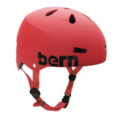 Bern Macon EPS Mens Skate Helmet, Matte Red, medium
