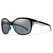 Smith Jetset Polarized Womens Sunglasses, Black Lagoon, medium