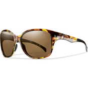 Smith Jetset Polarized Womens Sunglasses, Vintage Tortoise, medium