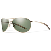 Smith Serpico Slim Polarized Sunglasses, Gold, medium
