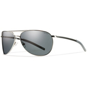 Smith Serpico Slim Polarized Sunglasses, Matte Gunmetal, medium
