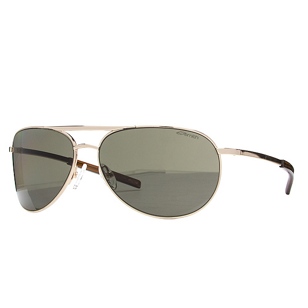Smith Serpico Slim Polarized Sunglasses, Gold-Polarized Gray Green, 600