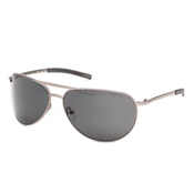 Smith Serpico Slim Polarized Sunglasses, Matte Gunmetal-Polarized Gray, medium