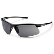 SunCloud Flyer Polarized Sunglasses, Black, medium