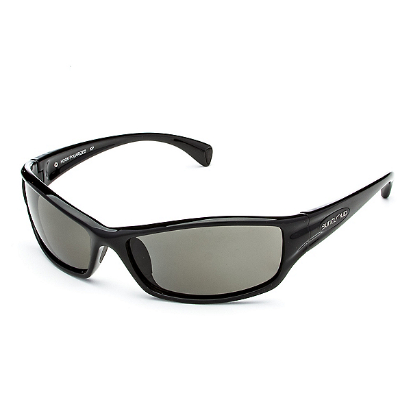 SunCloud Hook Polarized Sunglasses, Black-Gray Polarized, 600