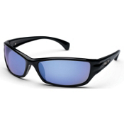 SunCloud Hook Polarized Sunglasses, Black-Blue Mirror Polarized, medium