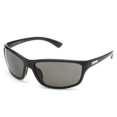 SunCloud Sentry Polarized Sunglasses, Black-Gray Polarized, large