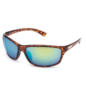 SunCloud Sentry Polarized Sunglasses, Tortoise-Green Mirror Polarized, medium