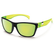 SunCloud Speedtrap Polarized Sunglasses, Matte Black Yellow, medium