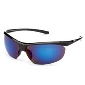 SunCloud Zephyr Polarized Sunglasses, Black-Blue Mirror Polarized, medium