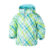 Obermeyer Serenity Toddler Girls Ski Jacket, Bluebell Tartan, medium