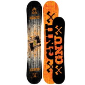 Rocker with Camber GNU Snowboards